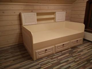Мебель для детской.Двухярусная кровать с накладками из МДФ в пленке ПВХ премиум класса.