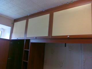 Фасады - МДФ рамка, вставка-ротанг.