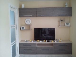 Мебель для гостиной. Стенка.Фасады МДФ в ПВХ плёнке.