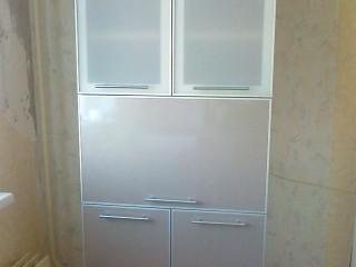 Фасады - Сатин-акрил в алюминиевой рамке и МДФ в ПВХ плёнке.